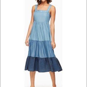 Brooke street Kate Spade tiered chambray dress
